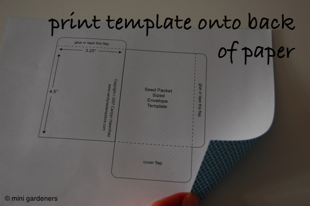 printing seed packet template