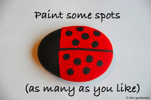 painted ladybird pebbles step 3