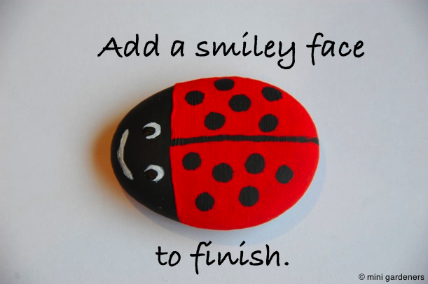 painted ladybird pebbles step 4
