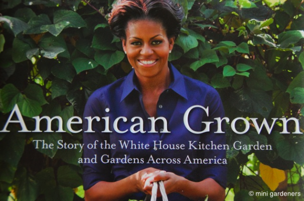 michell obama's kitchen garden book