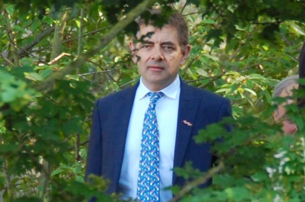 rowan atkinson at the chelsea flower show